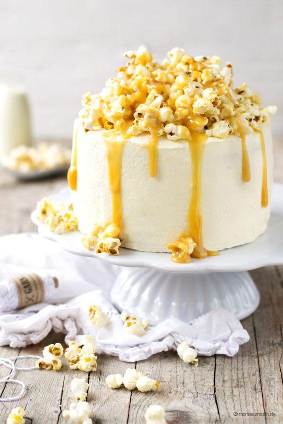 monsieurmuffin feiert Geburtstag und schmeißt ne riesen Sause mit Gewinnspiel und einem Rezept für eine feine Popcorn Torte