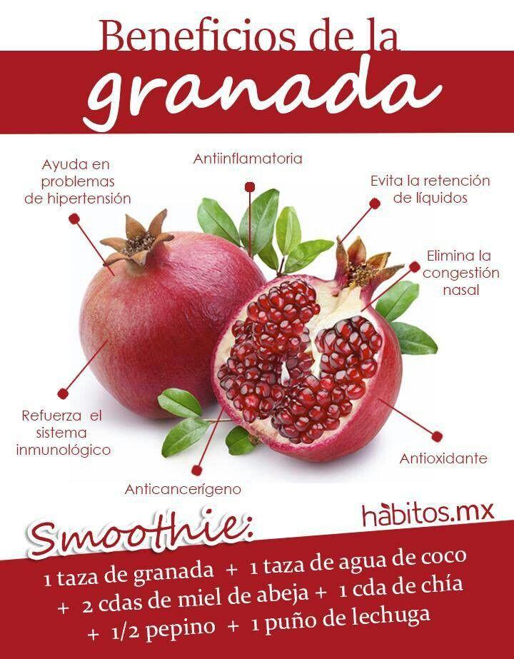 Smoothie de granada #habitosmx #hábitos #salud #health