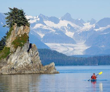 Tongass National Forest, AK —the largest in the U.S.—is a rainforest (albeit a temperate one) on Alaska's southern coast