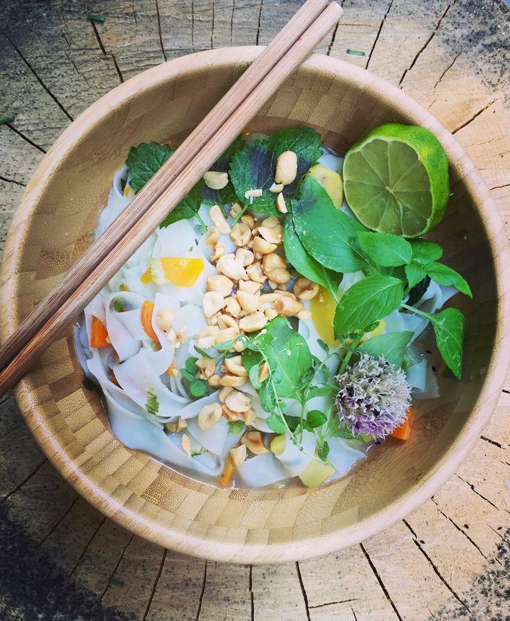 vietnamesische Pho Suppe (vegan)