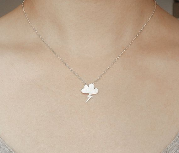 {Lightning Cloud Necklace} love this necklace :)
