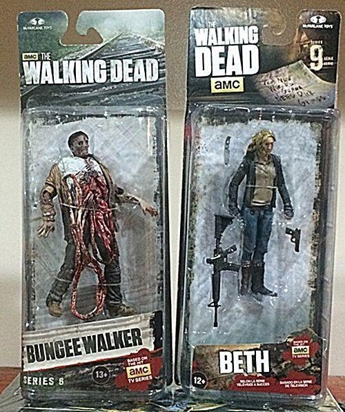 Walking Dead Action Figure 2 Pack - Beth (series 9) & Bungee Walker (series 6)  #McFarlaneToys