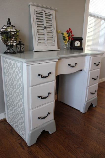 Old, ugly desk turned into this! The before and after picture is amazing