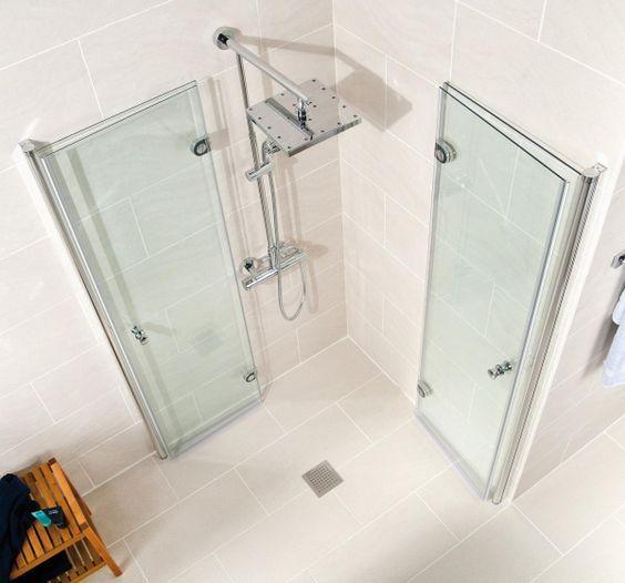 Schulte Duschkabine Garant Drehfalttur Als Eckeinstieg 6 Mm Shower Cabin Small Bathroom With Shower Bathroom Layout