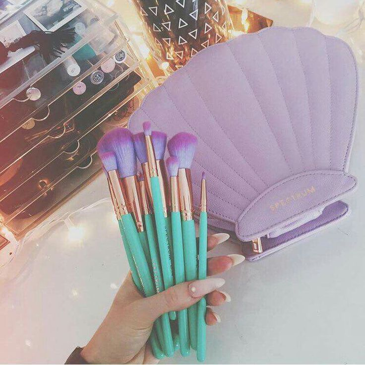 Spectrum Make Up Brush Set | Mermaid Dreams Glam Clam | @kwxx