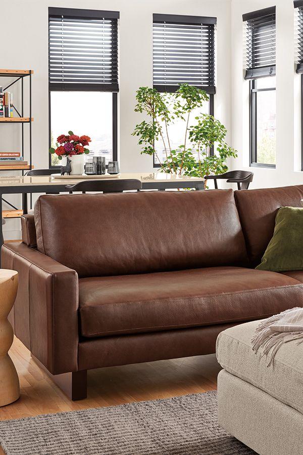 Hess Leather Sofa Modern Sofas Loveseats Modern Living Room Furniture Modern Leather Sofa Leather Sofa Modern Furniture Living Room