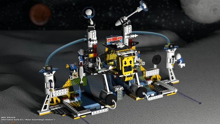 "MOC 691410 Alternative Build 03 (""Moon Seismologic Station""), see more at http://lego.queryen.com/php/691410.php"
