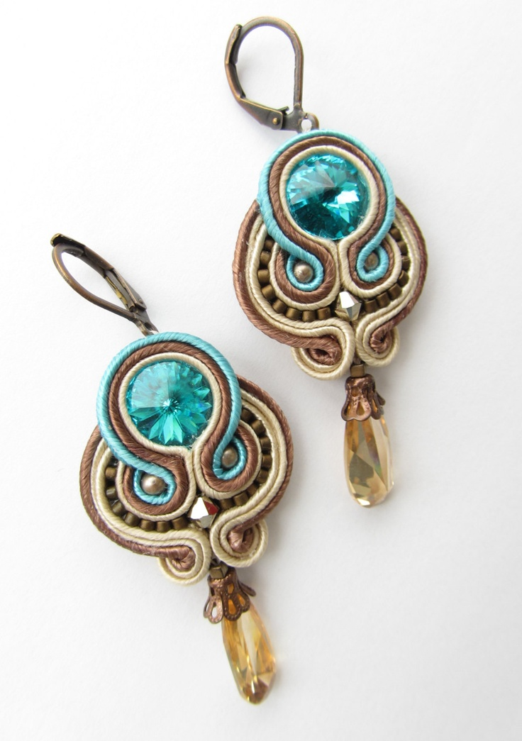Soutache earrings. $49.00, via Etsy.