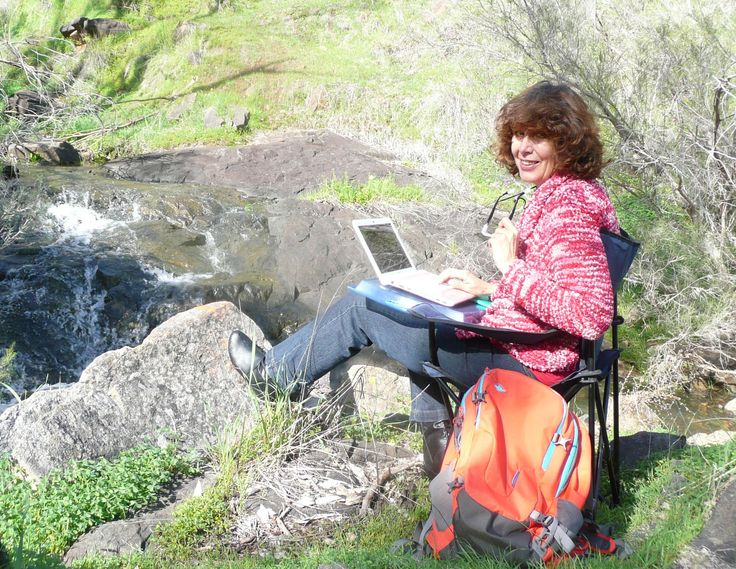 Writing my book in nature while living and traveling in a motor home
