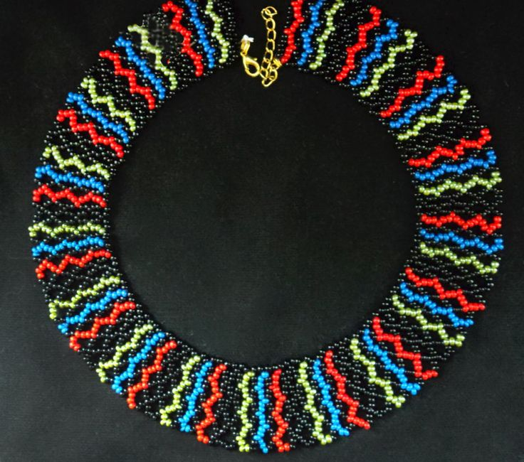 Free pattern for necklace Colors   Beads Magic