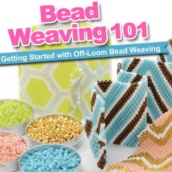 Beading Weaving 101 at www.beadaholique.com - Learn 3 top stitches for off-loom                                                                                                                                                      More