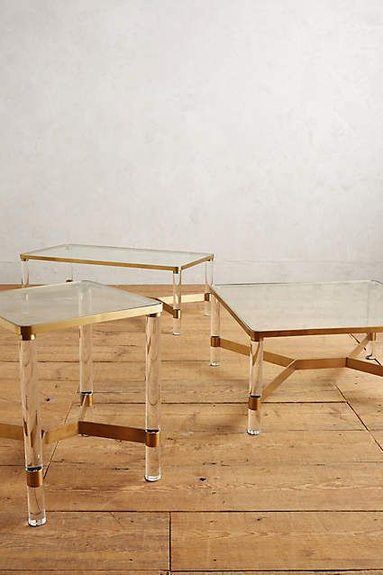 Oscarine Lucite Coffee Table, Square - anthropologie.com