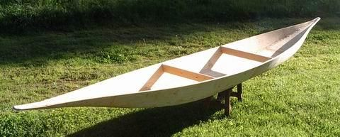 18' canoe made from a single sheet of plywood. Cool!