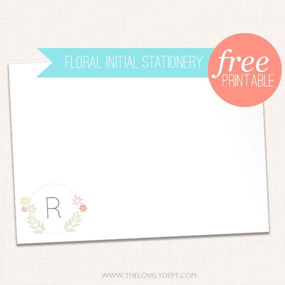 Freebie | Customizable Initial Notecard
