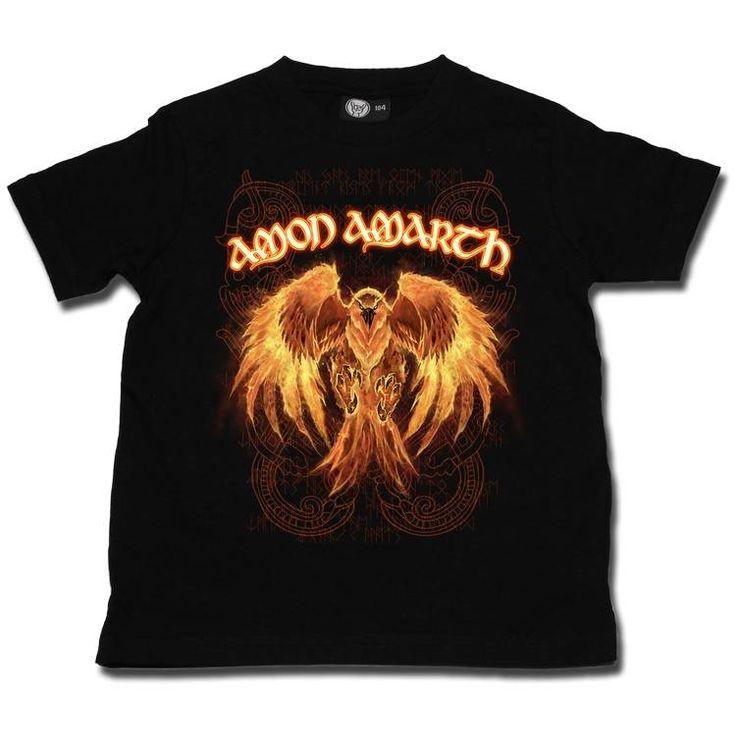 Amon Amarth Burning Eagle Kids T-shirt 2-13 Years