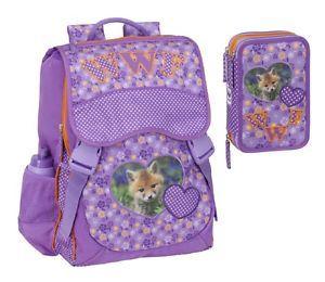 a mochila escolar extensible estandar wwf cuore nina 56723estuche 3 zip