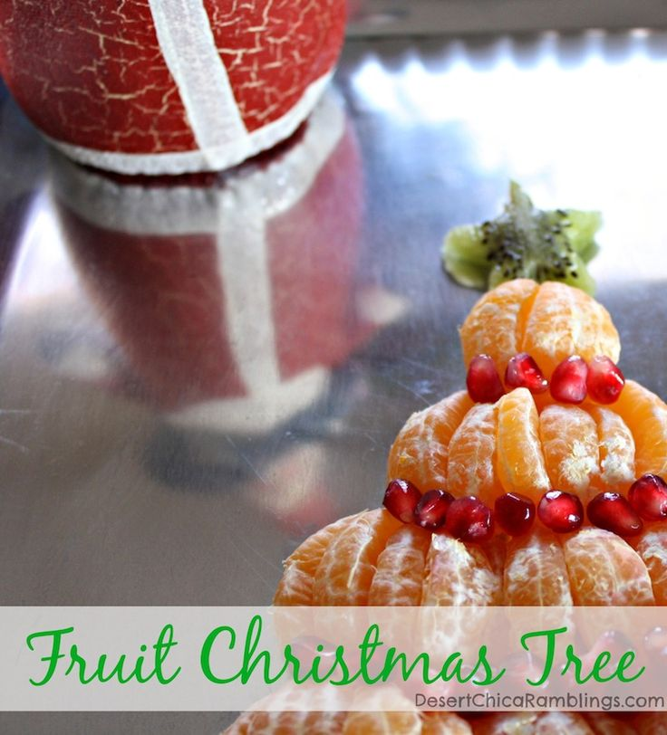 Easy Fruit Christmas Tree - perfect for a playdate December snack or Christmas Brunch appetizer! #HalosFun #ad