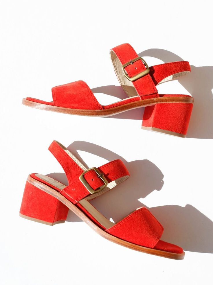 No. 6 - TAYLOR BUCKLE SANDAL - FLAME SUEDE
