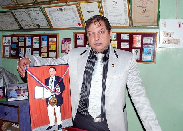 """Gm. JIMMY R. JAGTIANI - FATHER OF TAEKWONDO IN INDIA    The Executive Director and the Technical Advisors of the Taekwondo Hall of Fame, USA conferred upon Grandmaster Jimmy R. Jagtiani, 8th Dan as """" Father of Taekwondo in India """" in the Grand ceremony held in Marriot Hotel, New Jersey, USA on 10th April 2009."""