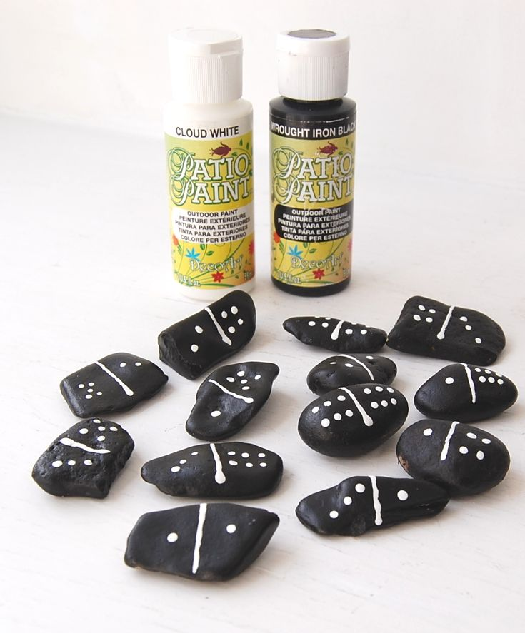 Make dominoes from stones and rocks. Would be a great camping project - and will keep the kids busy outside for ages!