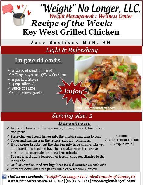 "Wednesday's Weekly Recipe: ""Key West Chicken""… – KetosisDiet.net"