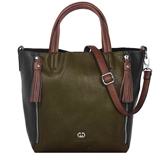 Gerry Weber Shout Handtasche Henkeltasche Schultertasche Bag in Bag 4080002859, Farbe:Dark Green