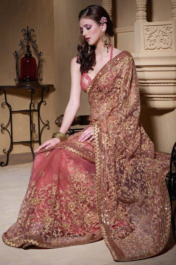 Beautiful Bridal Saree of Heavy Pallu