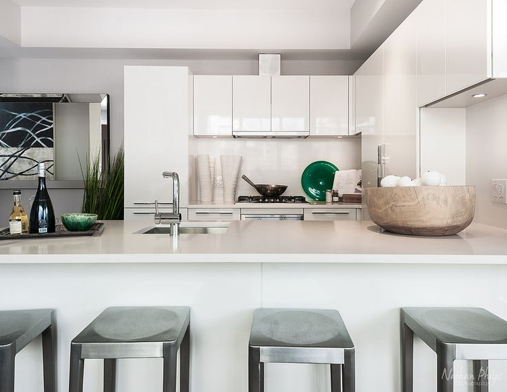 A Benson Industries Ltd. kitchen for the Cressey Development Group #Meccanica in #YVR. Photography by Nathan Philps.