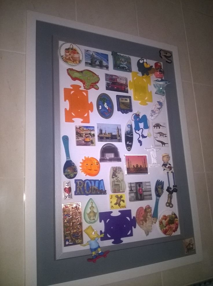 Magnet fridge frame to put in the wall of your kitchen