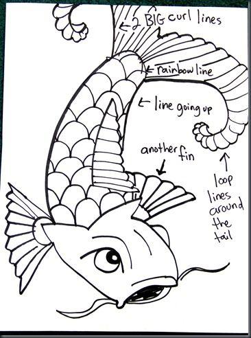draw a koi fish