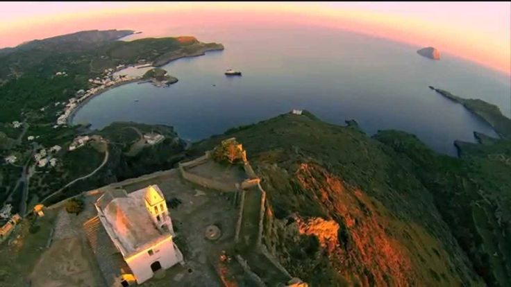 AERIAL FOOTAGE FLYING OVER KYTHERA, GREECE - JULY 2014