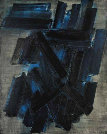 'Peinture 195 x 155 cm., 7 février 1957' by Pierre Soulages