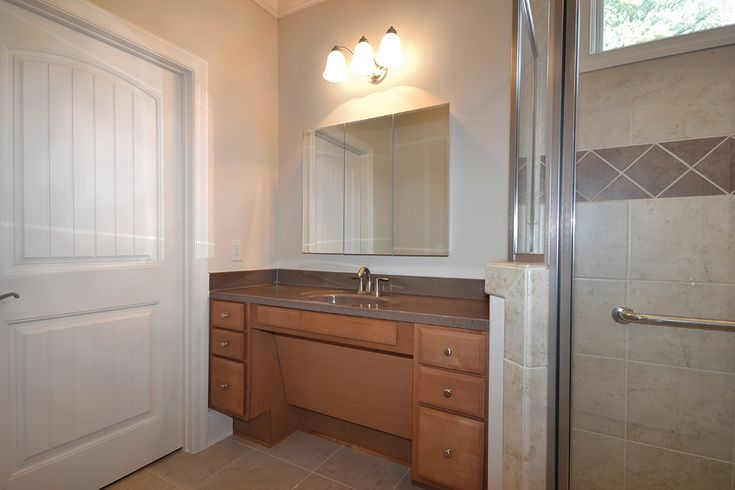 Wheelchair accessible bathroom vanity sinks see more design ideas for disabled bathrooms at for Wheelchair accessible sink bathroom