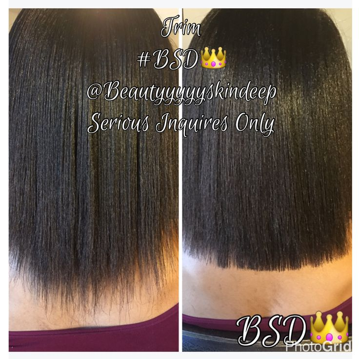 Trim Split Ends Natural Black Hair