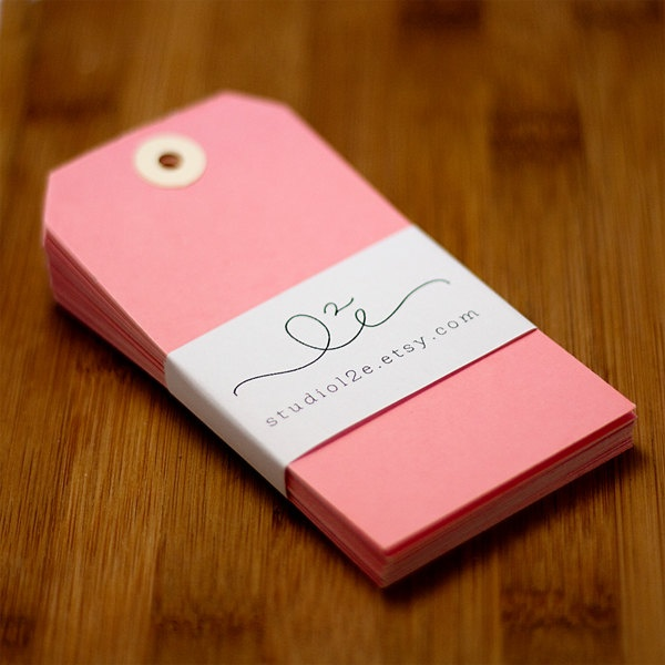 Pink Shipping Tags - Set of 25