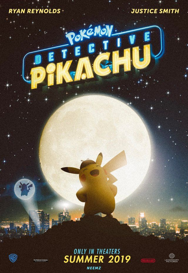 Detective Pikachu Movie Poster Pokemon Pokemon Movies Detective Movies Pikachu Wallpaper
