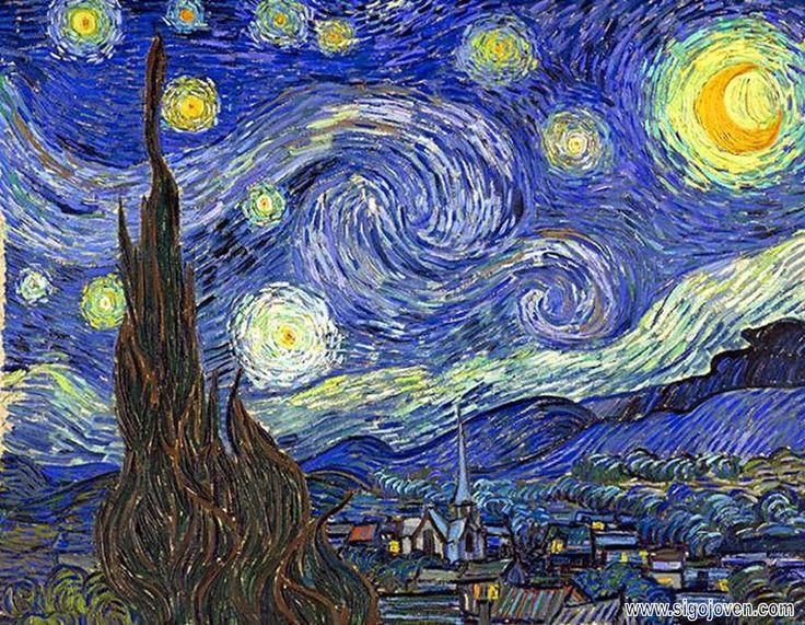"""""""La Noche estrellada"""" de V. Van Gogh, en http://enzarzarte.blogspot.com"""