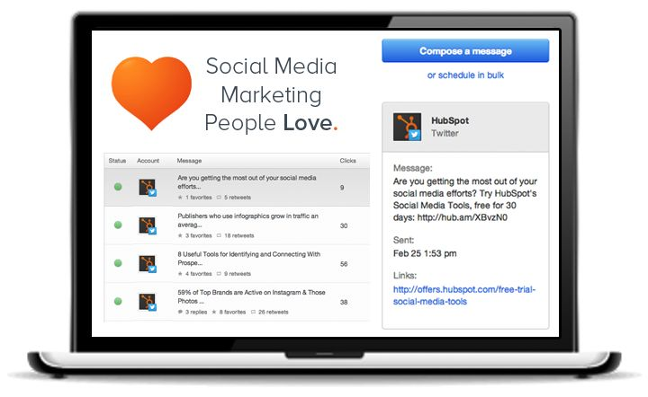 Try HubSpot's social media tools free for 30 days, and get real marketing insight into your social media efforts.