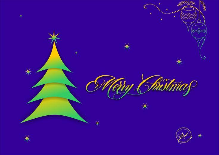Design Christmas greeting card / Weihnachtskartendesign mit kalligrafischem Schriftzug