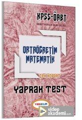 2017 ÖABT Ortaöğretim Matematik Çek Kopart Yaprak Test Yediiklim Yayınları