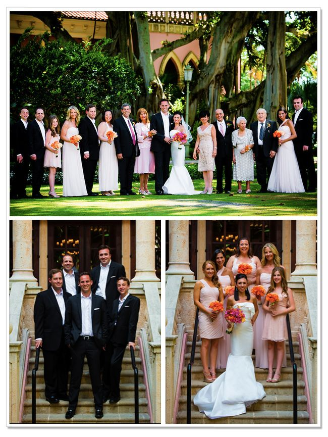 Stephanie & Dave's Bridal party at the Boca Raton Resort