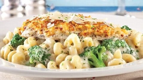 Red Lobster Restaurant Copycat Recipes: Parmesan Crusted Chicken Alfredo