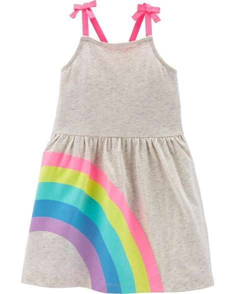 8c6254d93 Rainbow Tank Dress in 2019 | Products | Toddler girl, Toddler girl ...