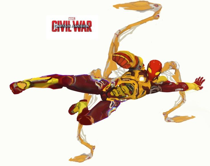 concept art civil war iron  spiderman