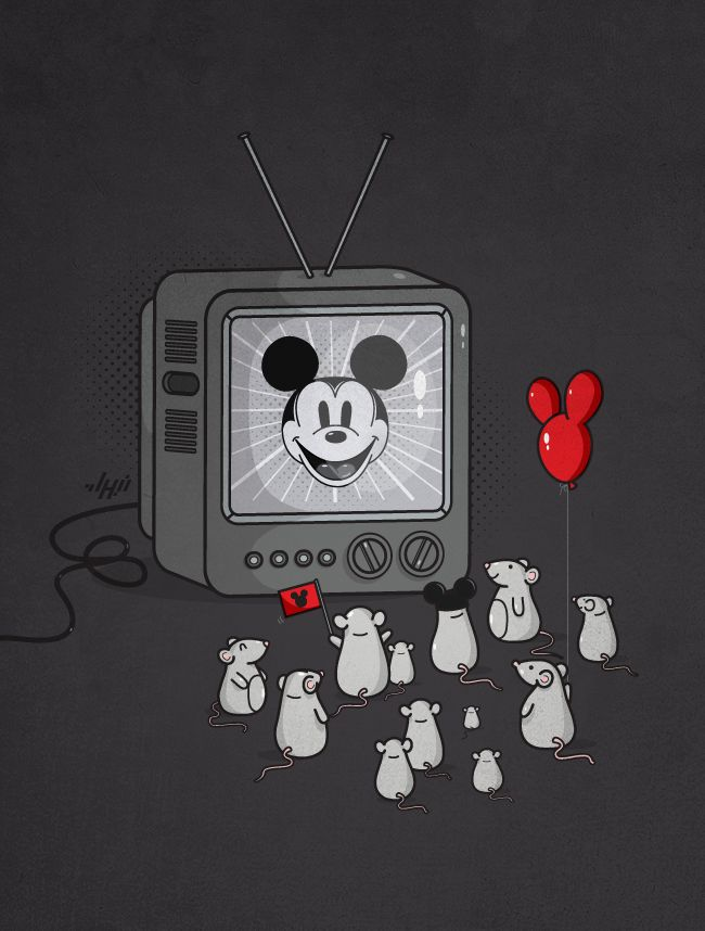 It all started with a mouse: Mice, Artists, Heroes, Fans, Tvs, Disney, Adobe Illustrations, Mickey Mouse Illustrations, Role Models