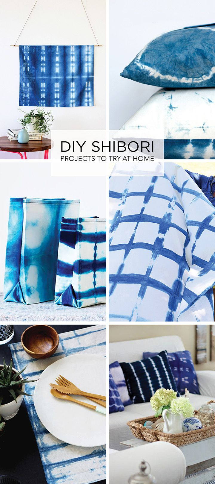 We've rounded up our favorite DIY shibori projects. If you're ready to try indigo dyeing using the shibori technique, these are some great DIYs to try.