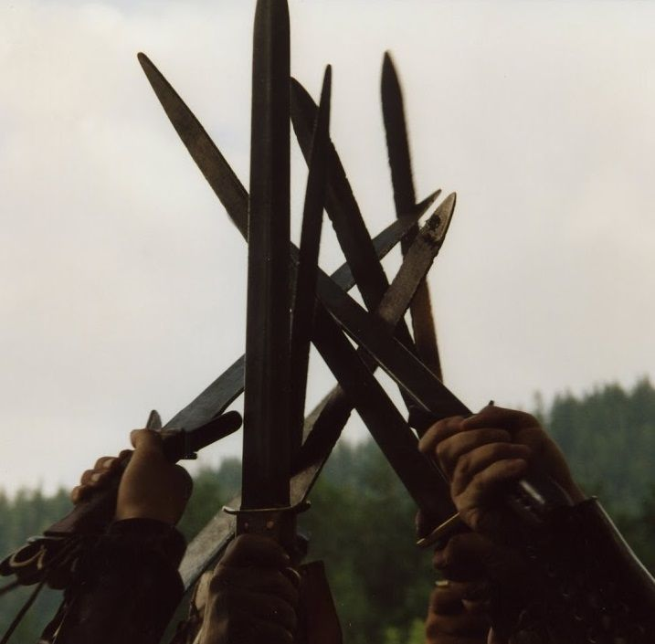 """Quick reminder for the tournament tomorrow: according to tournament rules all combat weapons must be blunted, so make sure to see the blacksmith if you need to for jousting or sword fighting.  """"We fight together"""""""