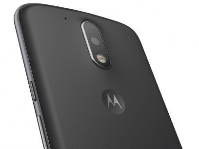 """Smartphone Motorola Moto G 4ª Geração Plus 32GB - Preto Dual Chip 4G Câm 16MP + Selfie 5MP Tela 5.5"""" com as melhores condições você encontra no Magazine Tonyroma. Confira!"""