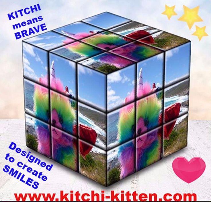 Kitchi-Kitten rainbow butterfly Cube!