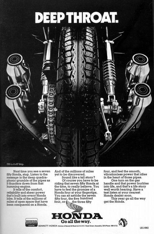 Honda ad. Nice pipes
